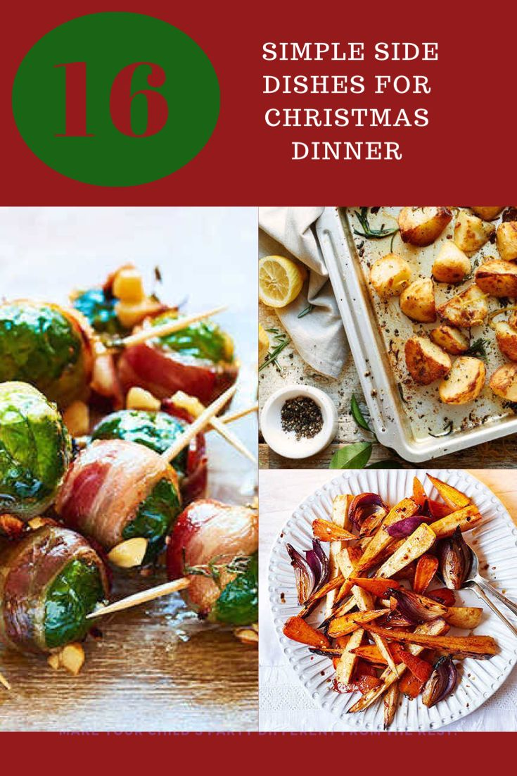 Easy and delicious side dishes to help you have the perfect Christmas dinner #christmas #christmasdinner #sidedishrecipes