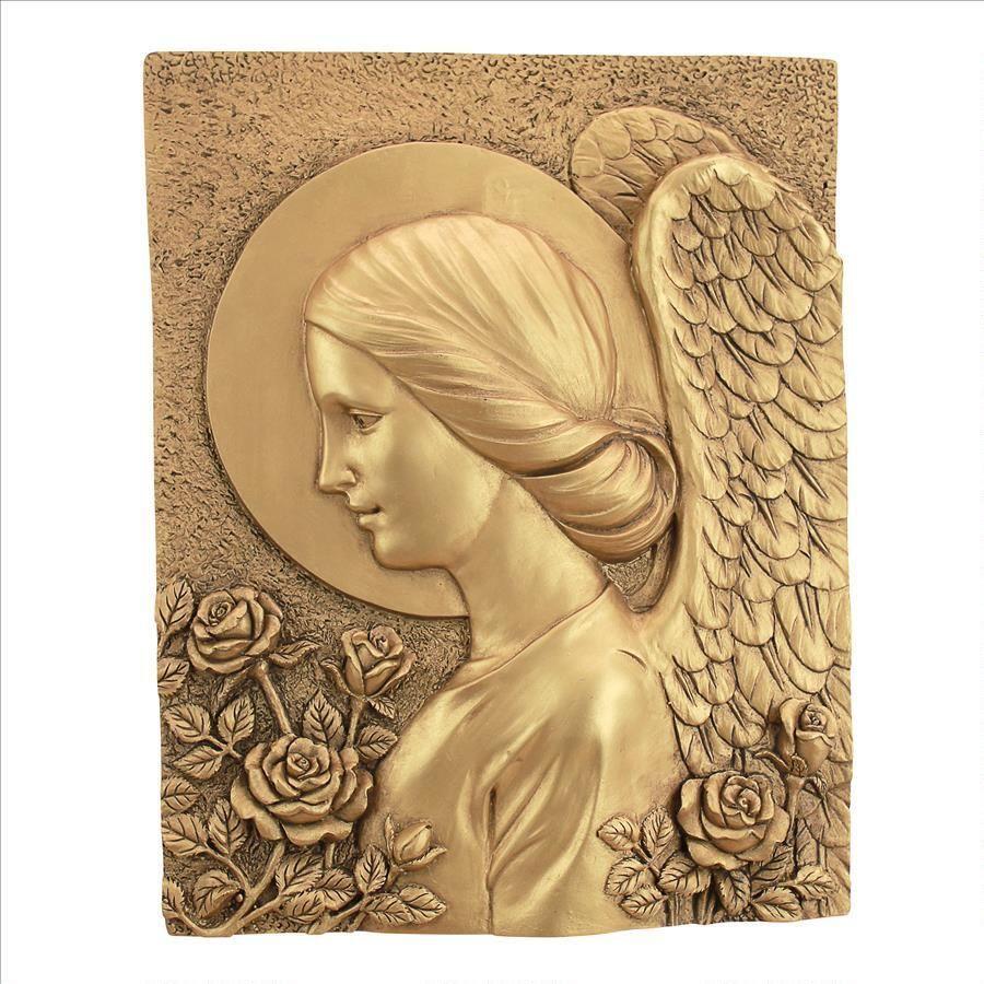 Gold Design Toscano God Bless Our Home Cherubs Wall Sculpture