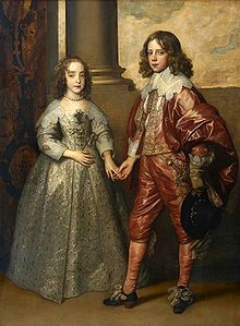 Mary Stuart, Princess Royal, with her husband William of Orange. Their marriage took place on 2 May 1641 at the Chapel Royal, Whitehall Palace. London. Mary was the first English princess to be granted the title, Princess Royal, in 1642.