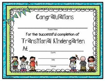This Is A Free End Of Year Certificate For The Transitional
