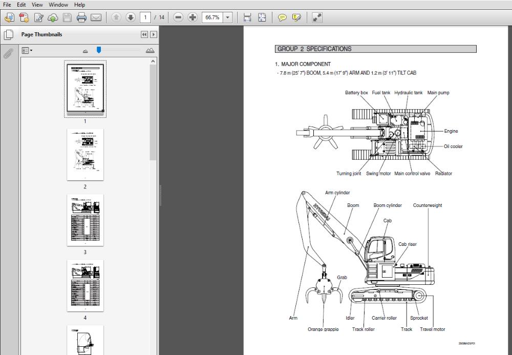Hyundai R290lc 9mh Crawler Excavator Service Repair Manual In 2020 Repair Manuals Hyundai Excavator