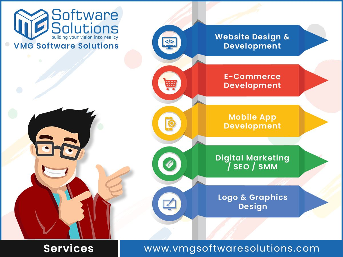 Top It Company In Gandhinagar Gujarat Vmg Software Solutions Ios Application Development App Development Website Design