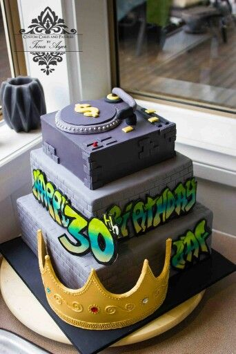Urban Hip Hop Cake With Turn Table Dad S Secret 50th