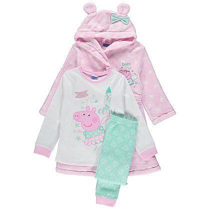 Peppa Pig Pyjamas and Dressing Gown Set | Kids | George at ASDA ...