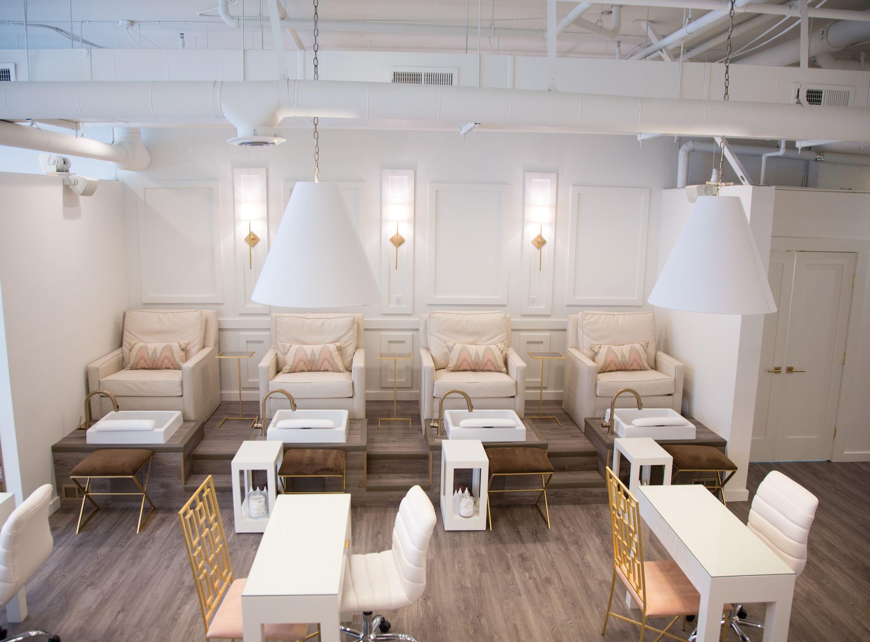 Paintbase Nail Salon In 2020 Salon Interior Design Nail Salon Design Nail Salon Interior Design