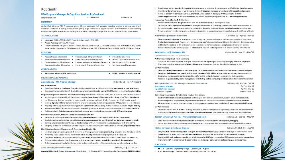 Resume Multiple Positions 2020 Resume Titles & Examples
