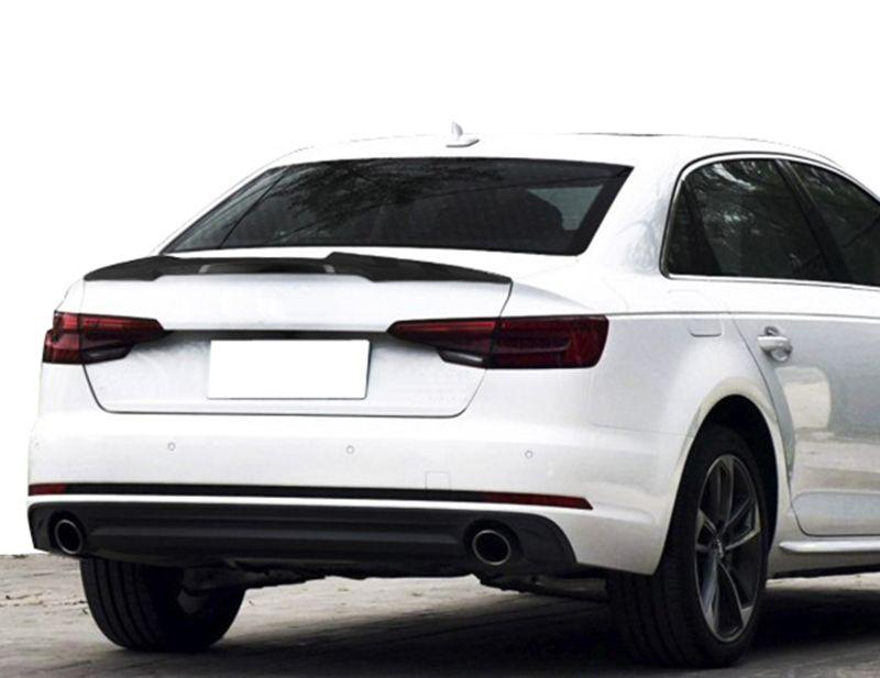 A4 B9 M4 Styling Carbon Fiber Rear Trunk Wing Lip Spoiler For Audi A4 B9 2017 Audi A4 Replacement Parts Carbon Fiber
