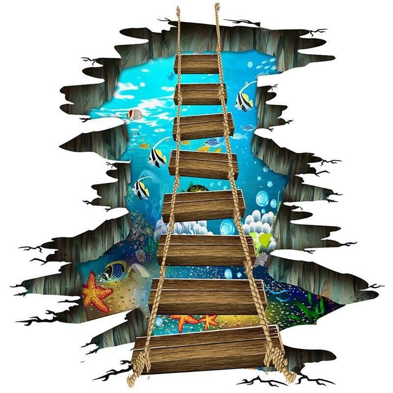 wall floor waterproof art stickers in 2020 mural art on wall stickers 3d id=59459