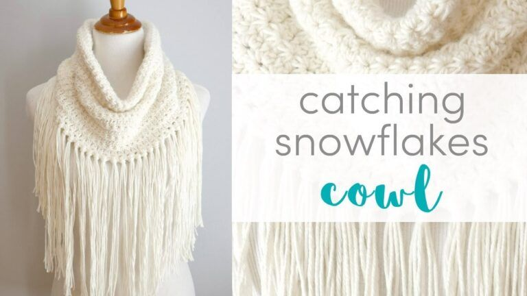 How I Crocheted Catching Snowflakes Cowl - Crocheted World