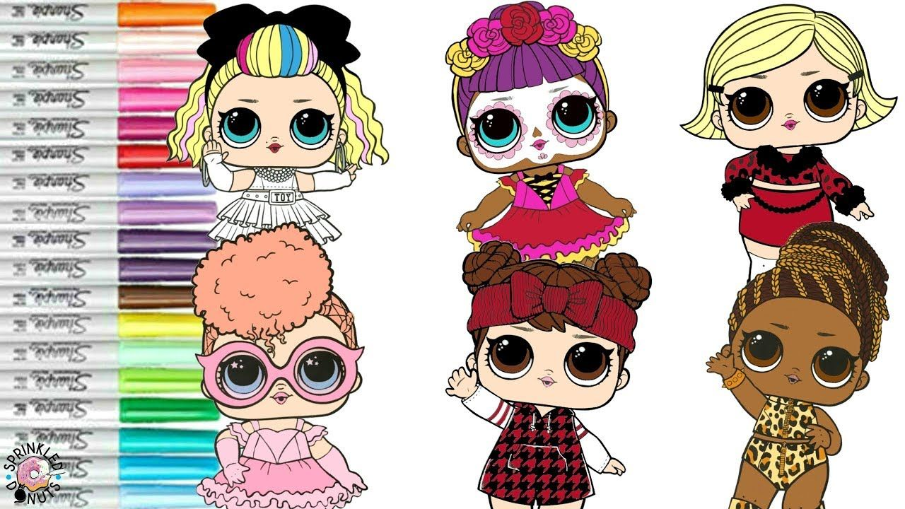 Lol Surprise Dolls Coloring Book Compilation 80s Bb Fierce Bebe Bonita A Coloring Books Lol Dolls Baby S First Step