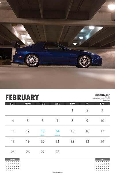 February Car Calendar Wall Calendars Pinterest - Sports cars calendar 2018