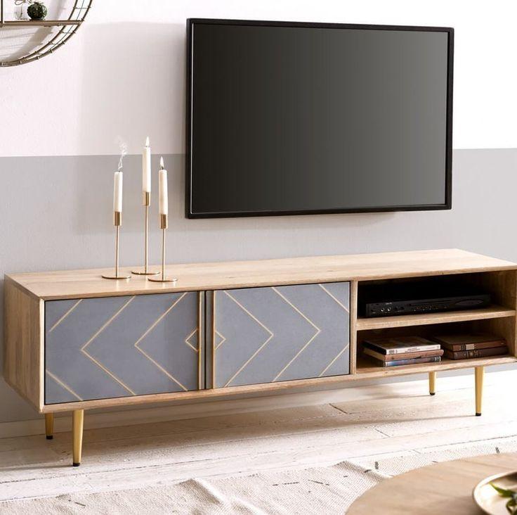 Tv Lowboard In 2020 Living Room Tv Wall Homedecor Living Room Wall Tv Unit Design