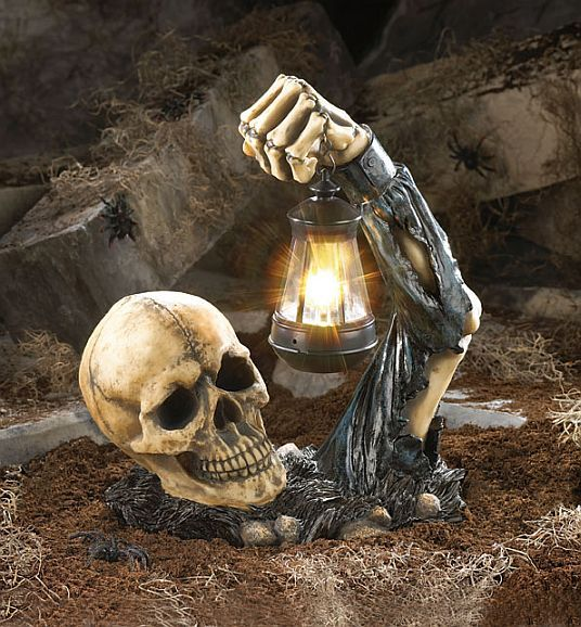Scary Scull with Light Available at wwwDebonairHomeDecor - scary halloween props