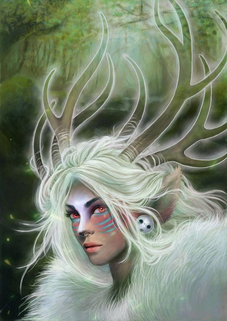 Forest Spirit By Madanmar On Deviantart Irl Clear Acrylic Antlers