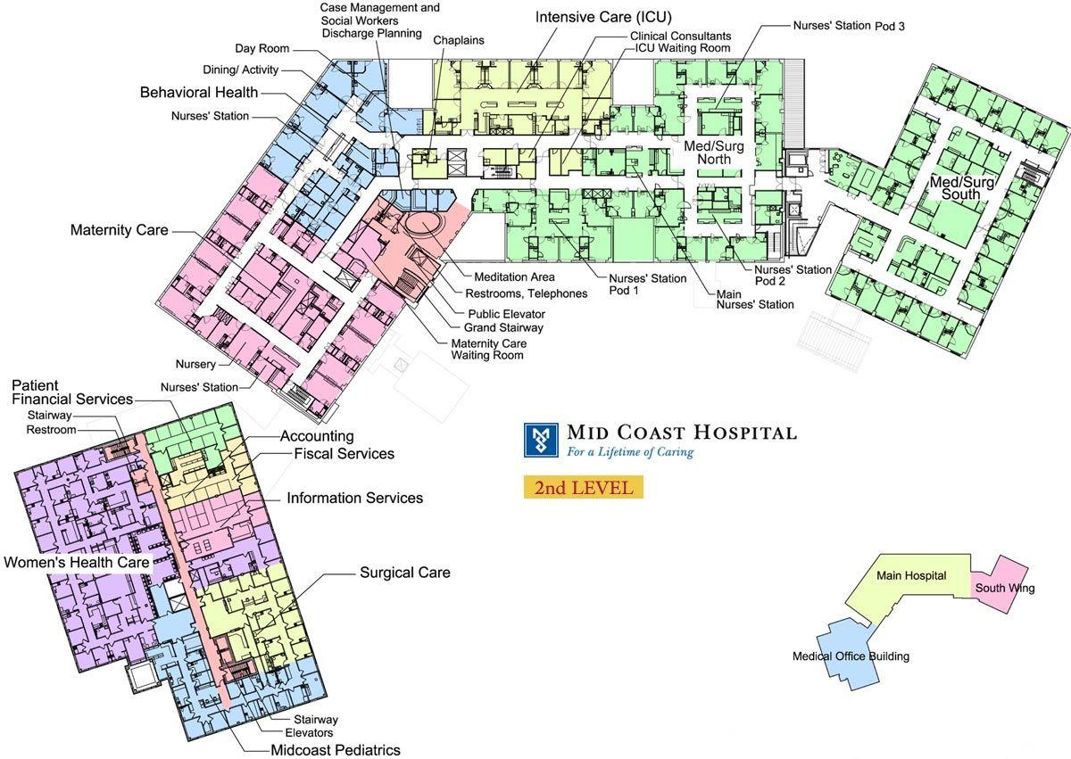 Mid coast hospital find us floor plans level 2