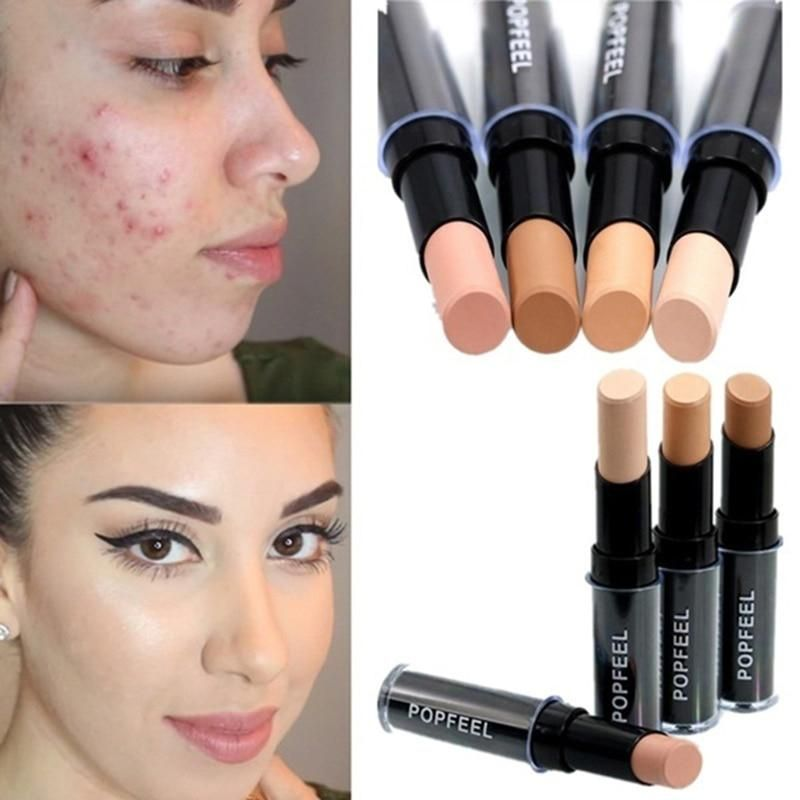 Makeup Base Eye Concealer Cream Stick Makeup Brighten Shadow Waterproof Cover Dark Circle Comestic Long-Lasting Natural 4 Color #darkcircle