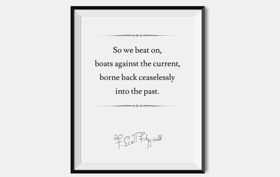 F. Scott Fitzgerald Quote Print, Pick Your Divider, The Great Gatsby, Typography Poster, Literary Art Print, Literary Poster, Gatsby Quote