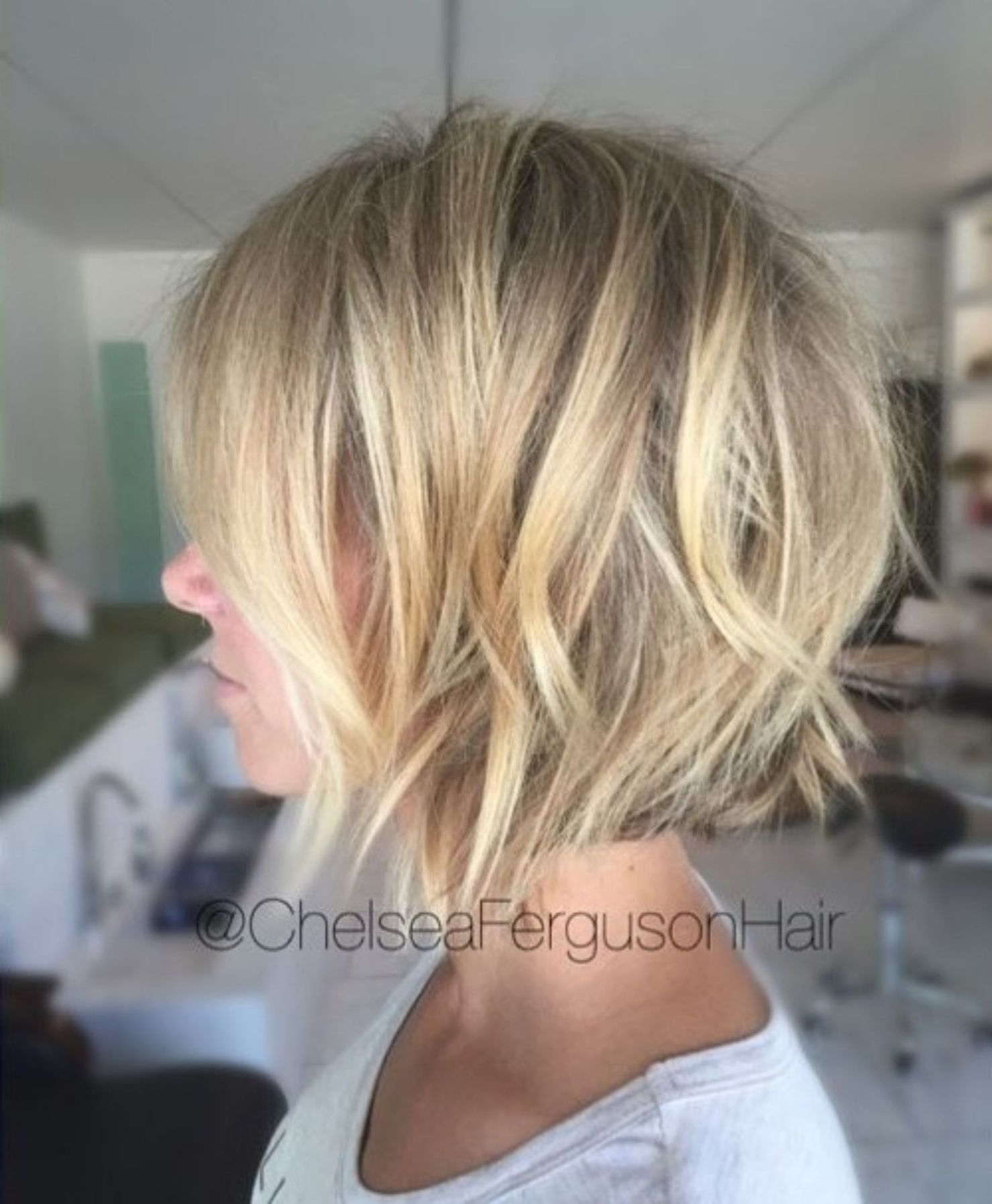 Choppy Piecey Bob Haircut Hair Styles Short Bob Hairstyles Blonde Bob Haircut