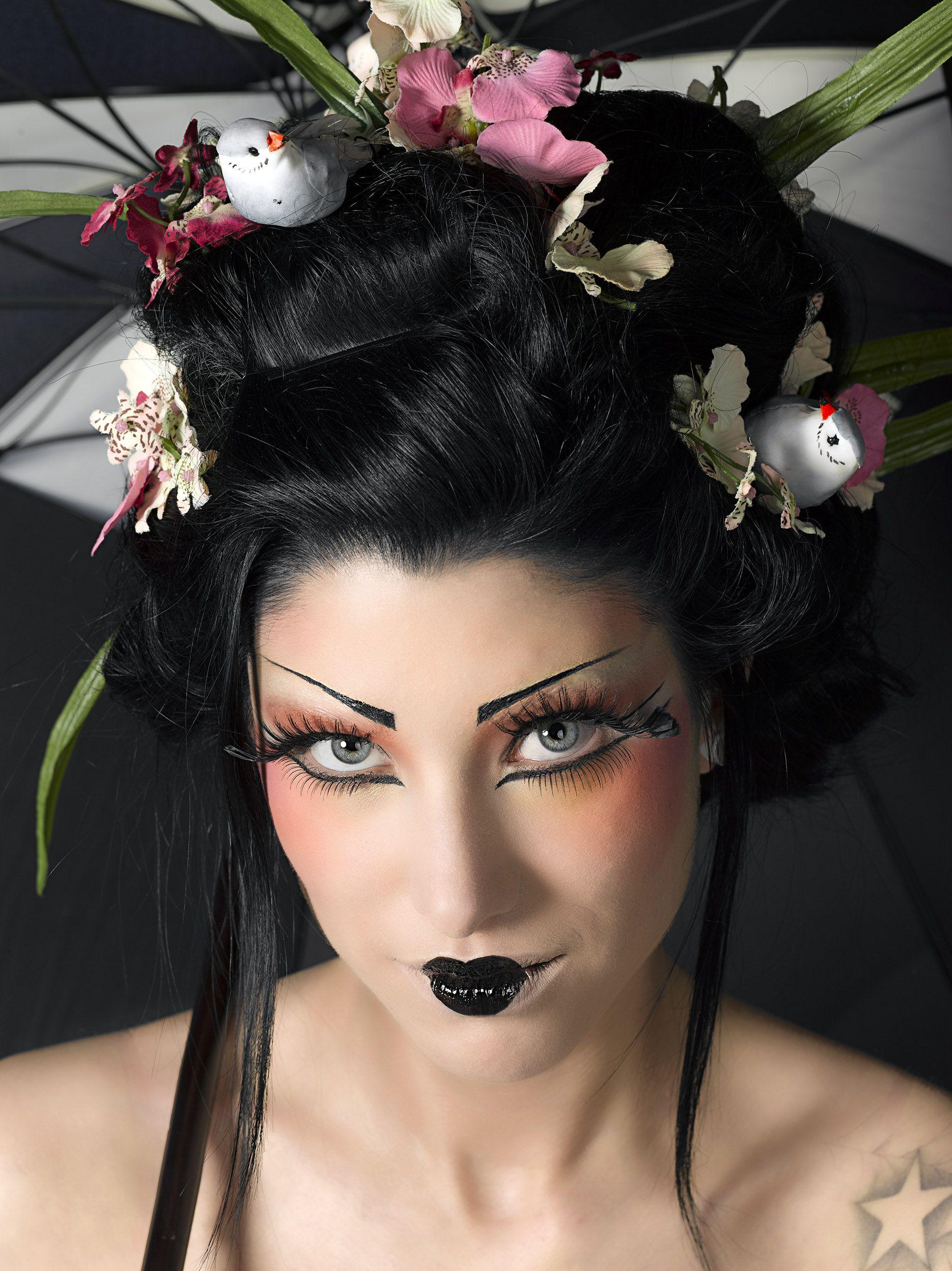 modern geisha photo alain naim mod le carine medusa makeup make up beauty in 2018. Black Bedroom Furniture Sets. Home Design Ideas