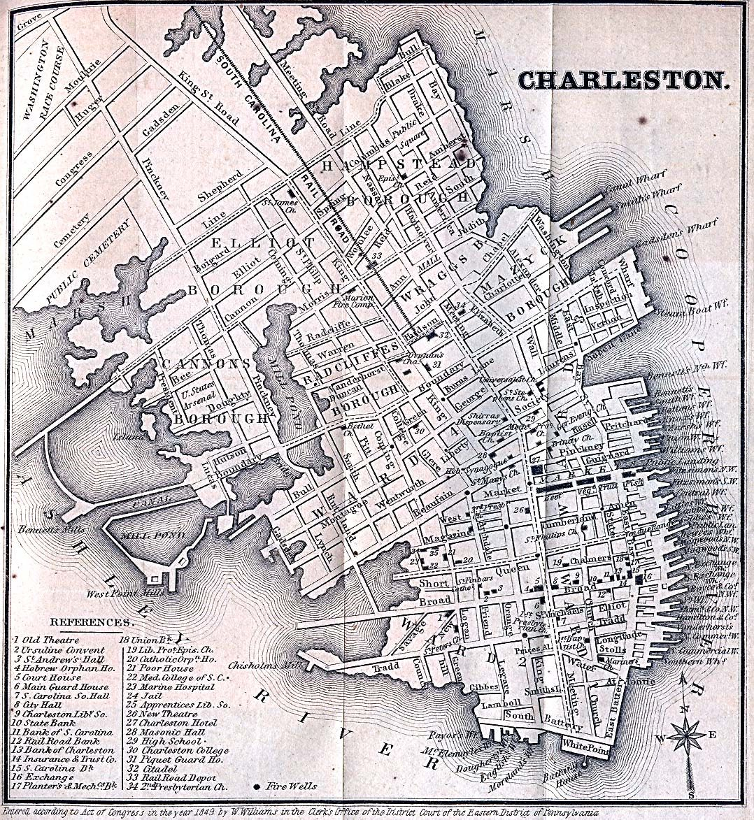 Historic Downtown Charleston Sc: Charleston In 1849. See, There Really Was A Friend Street