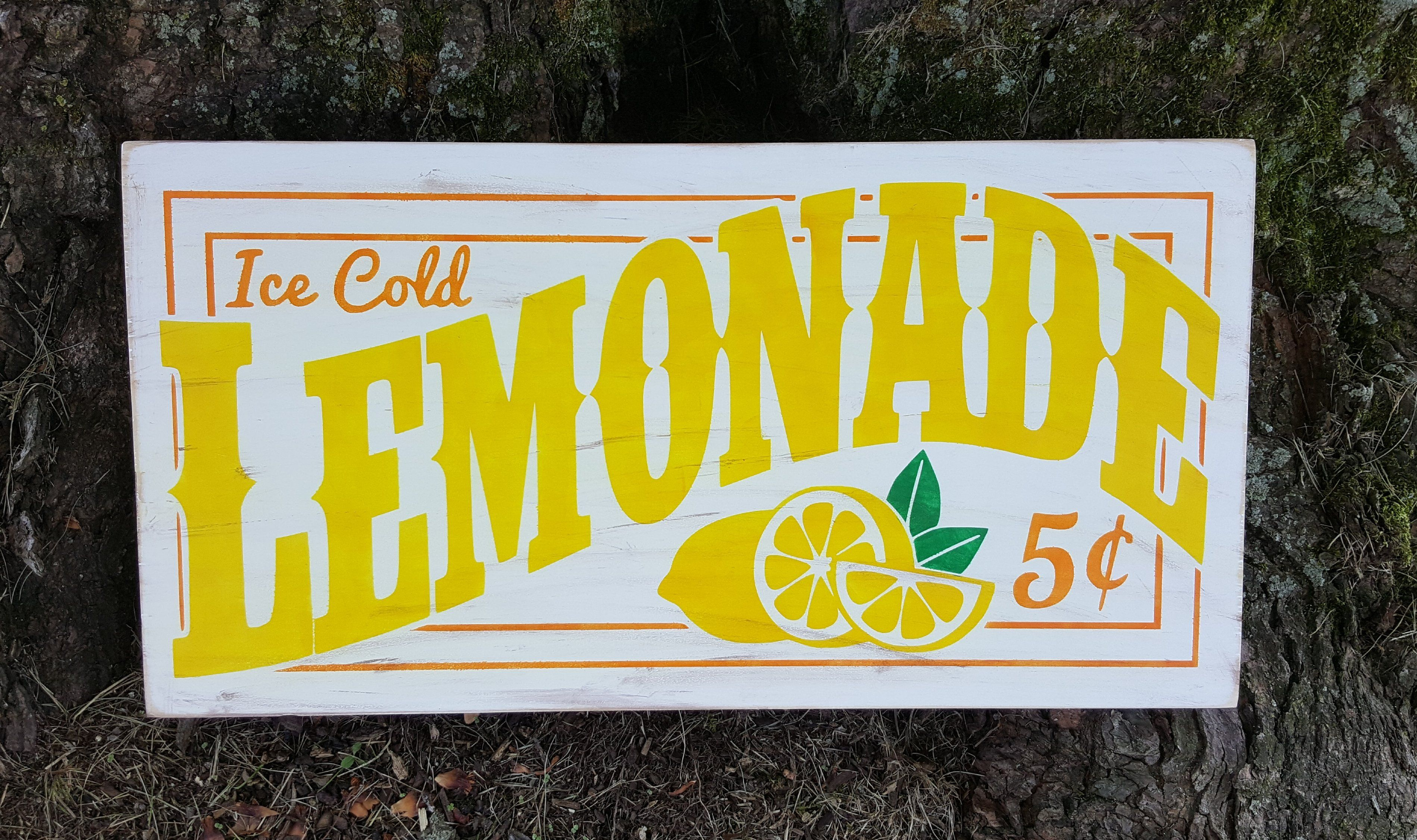 Ice Cold Lemonade Stand Sign Personalized Banner