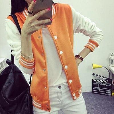 26010dc652189 ZYFPGS Autumn Baseball Jacket Women Bomber Jackets For Women Plus Size  Patchwork Coat JSK083