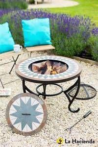 La Hacienda Sparta Mosaic Table Firepit U0026 BBQ Patio Heater Burner   BRAND  NEW