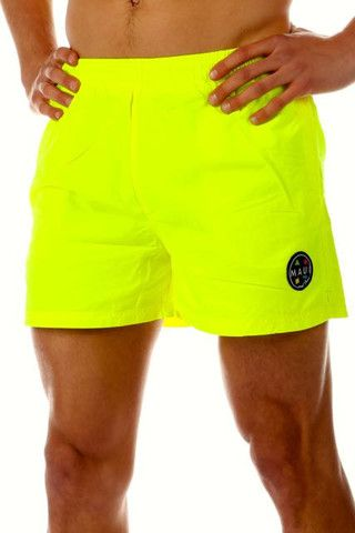 Maui Wowie Green Thunder Swim Neon 90s Shorts | Get your neon ...