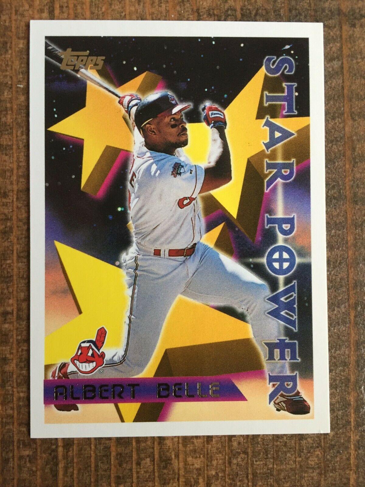 1996 Topps 223 Albert Belle Star Power Cleveland Indians Nm Nice Card In 2020 Cleveland Indians Indians Cards