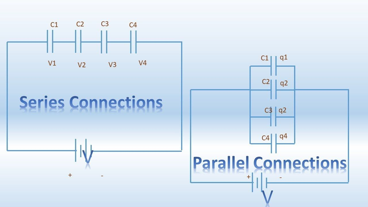 Series Parallel Connection Of Capacitor Capacitor Parallel Circuit Series Parallel Capacitor Series And Parallel Circuits