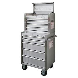 9 Drawer Stainless Steel Tool Chest And Cabinet Set Hotc2609j0qes