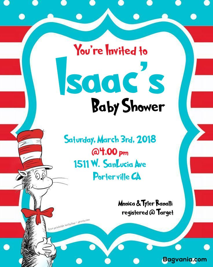 Baby Shower Invitation Backgrounds Free Mesmerizing Free Free Dr.seuss Baby Shower Invitation  Psd Template  Free .