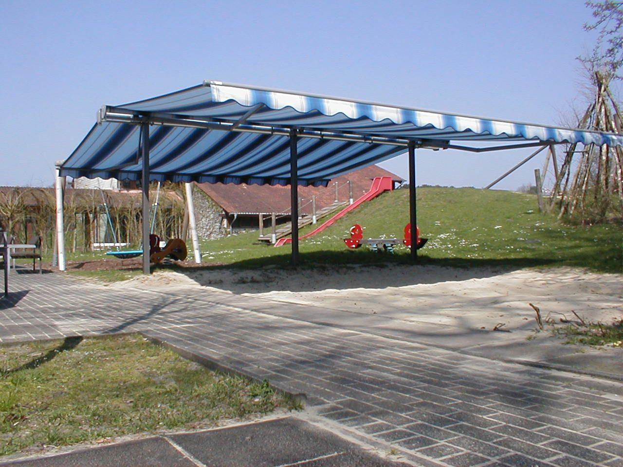 Doppelmarkise An Stahlgestell Freistehend Markise Terrassendach Terassenideen
