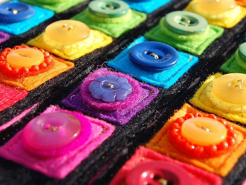 Rainbow of Buttons by therainbowroom, via Flickr