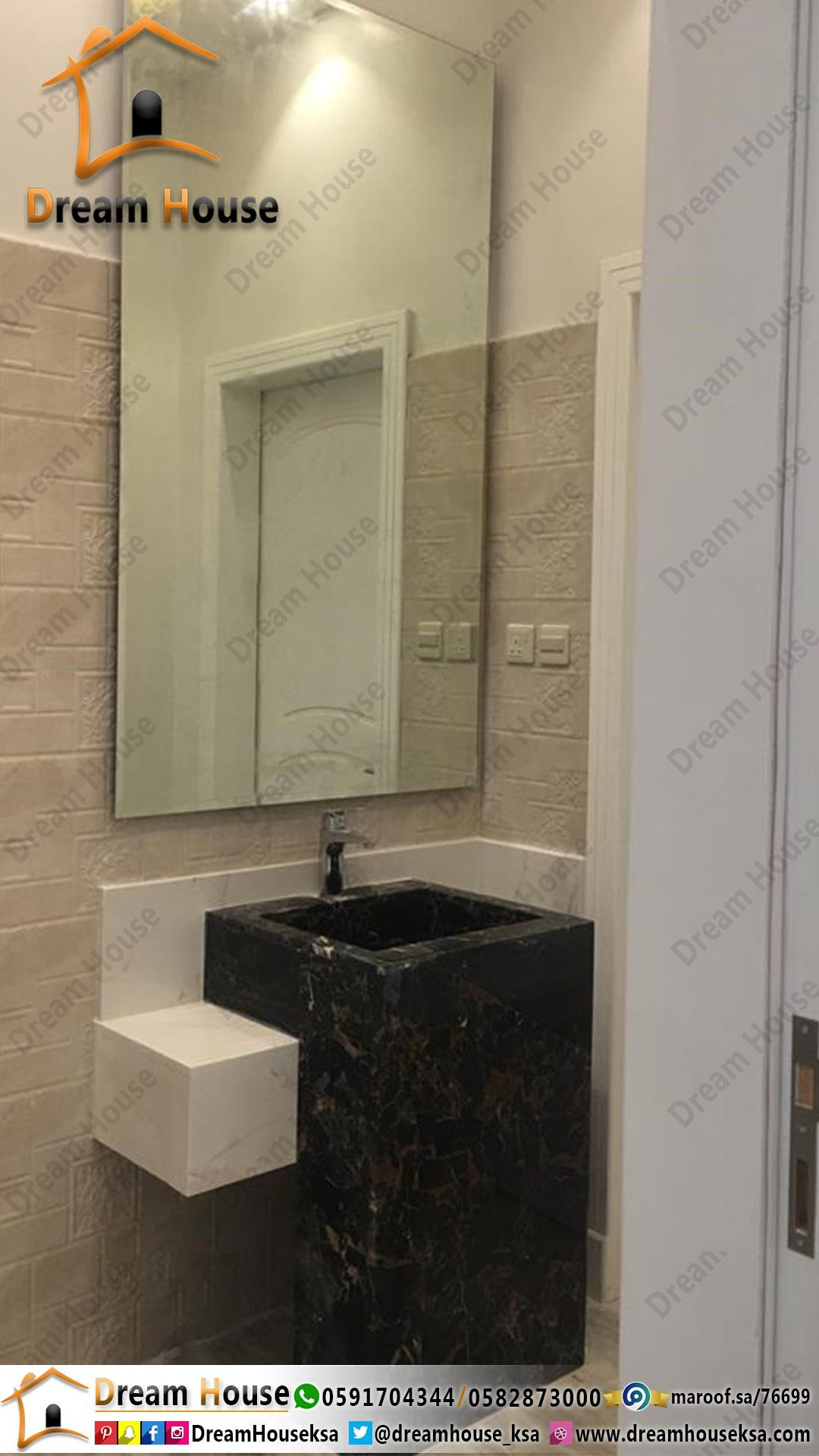 Pin By مغاسل منزل الاحلام On مغاسل رخام Bathroom Mirror Bathroom Lighting Lighted Bathroom Mirror