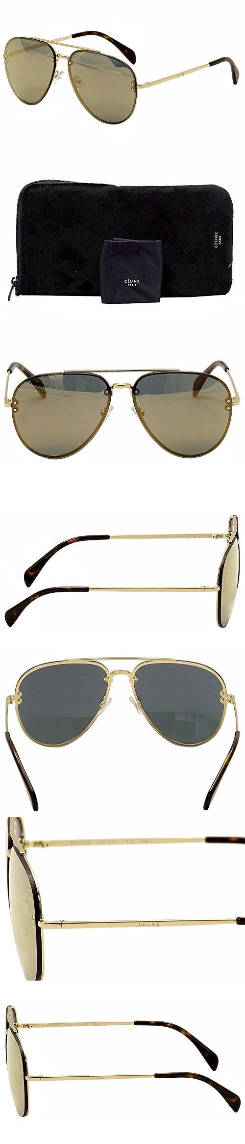 f4be107b897 Celine Mirror CL 41391 J5G MV Gold Metal Aviator Sunglasses ...