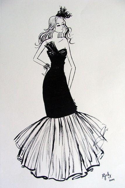 Fashion Illustration using ink.    Ilustração de moda feita com nanquim, para trabalho da Faculdade.     http://timemart.vn/305/p/430035/tranh-theu-chu-thap.html    http://timemart.vn