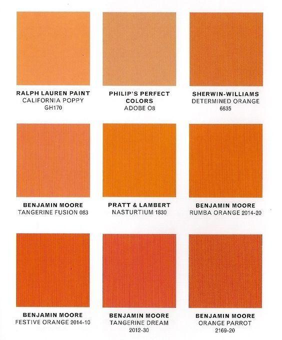 Orange Accent Wall Black Trim: Awesome Design For Burnt Orange Paint Colors Ideas