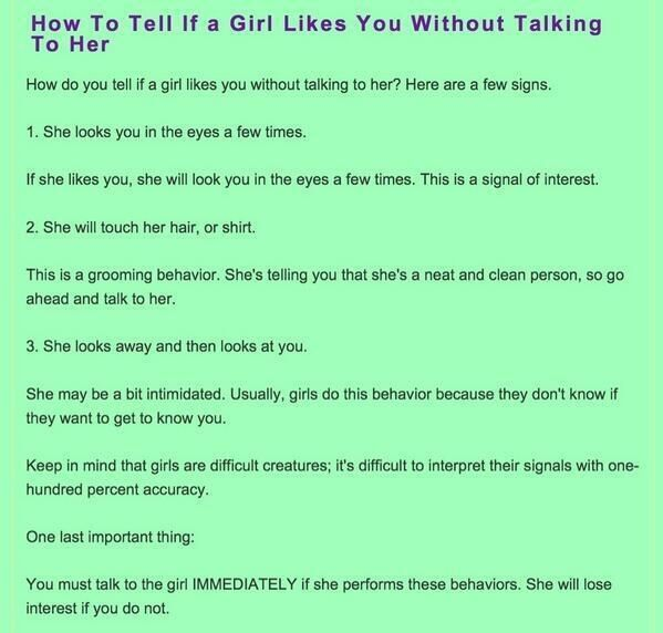 10 ways to know a girl likes you
