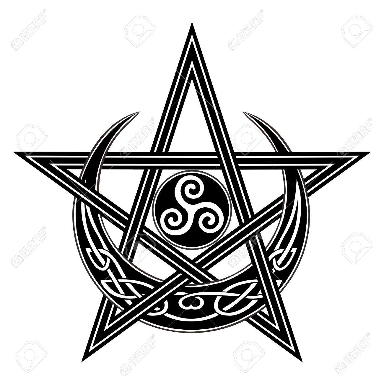 Kptallat a kvetkezre boszorkny szimblumok magic pinterest illustration of vector celtic moon star triple spiral symbol vector art clipart and stock vectors biocorpaavc Gallery