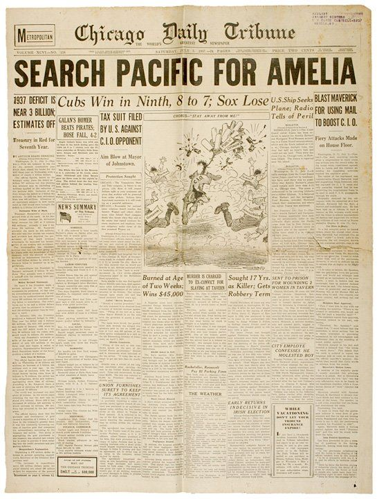 Old Newspaper Articles Amelia Earhart  Google Search  Amelia