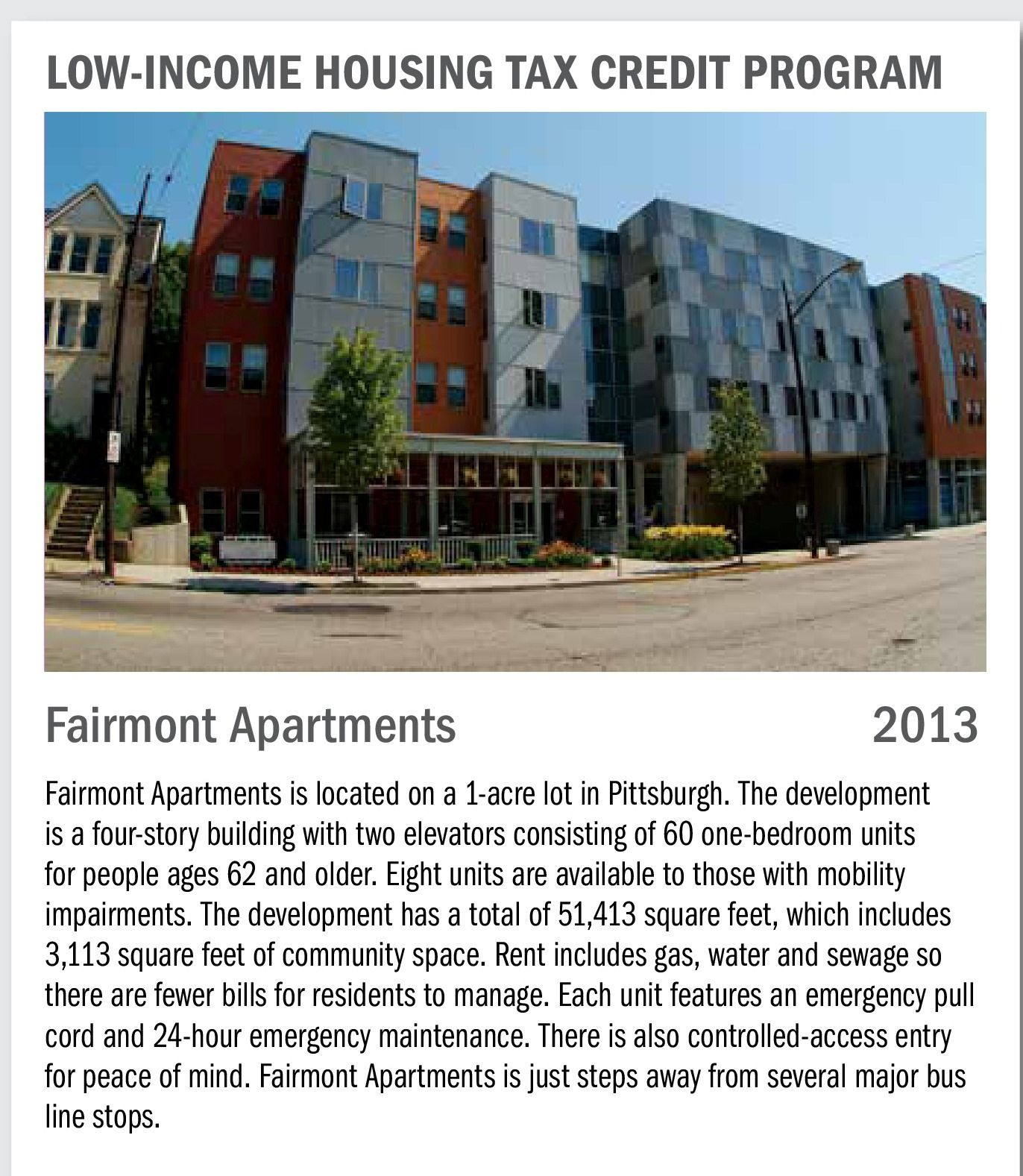 Submitted By The Pennsylvania Housing Finance Agency