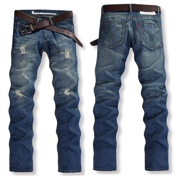 new design 50% price new arrivals Straight Slim Fit Casual Jean Pants | Fashion | Casual jeans ...