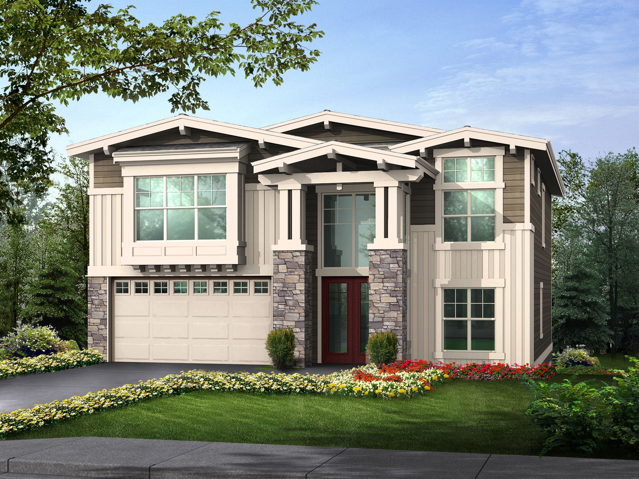 Plan 23248JD Craftsman with Multiple Plan Options – Reverse Floor Plan Home