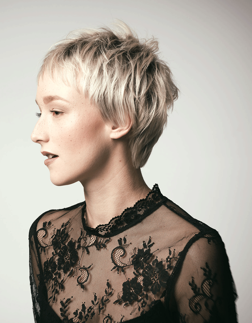 Our TOP 10 fringed short hairstyles - 10th place- Cool short hairstyle for fine, straight hair ...