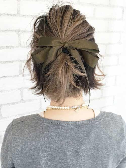 15+ Special Updos for Short Hairstyles (mit Bildern) | Kurze haare ...