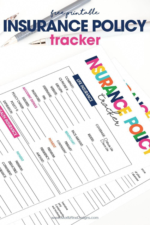 Insurance policy tracker whole life insurance umbrella