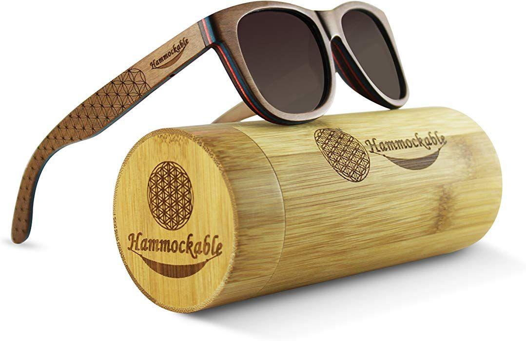 UV400 Polarized Maple Wooden Sunglasses and Case
