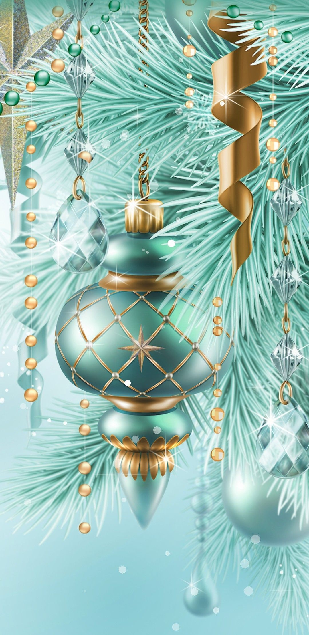 Vintage 1940s Christmas ornaments Christmas tree
