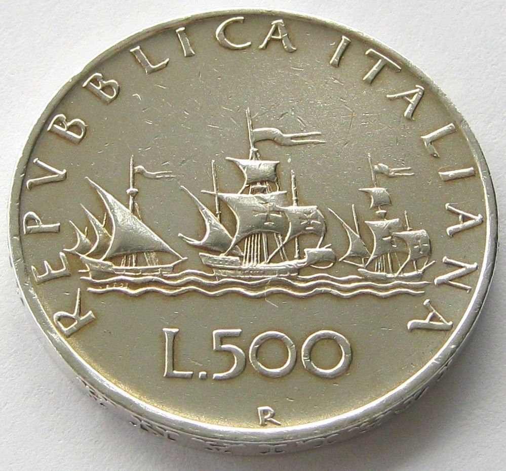 Italy Silver Coin 500 Lire 1960 R Top High Grade Old Coins